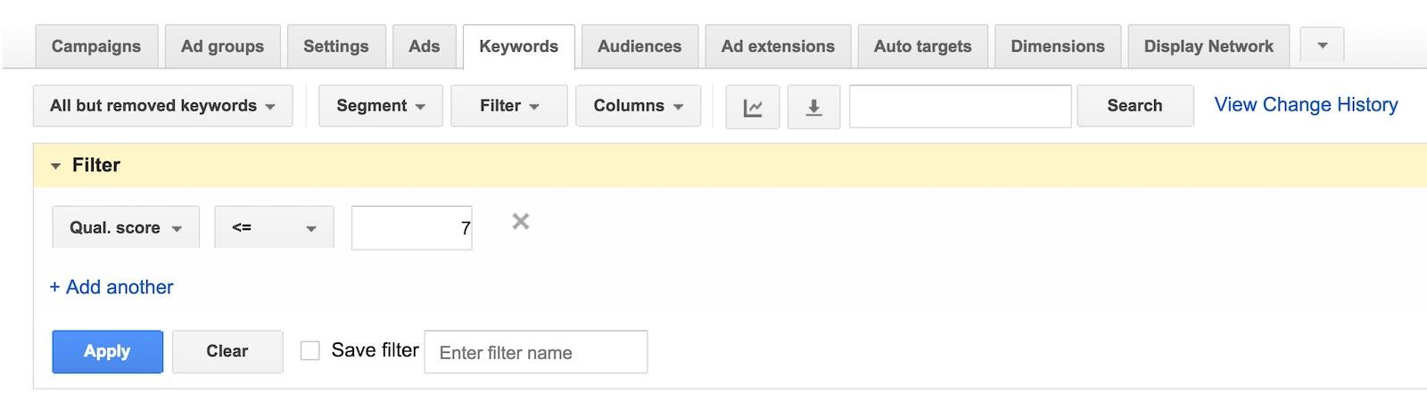 Google Ads Quality Scores